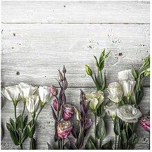 Matt Fototapete Tulpen-Rose Shabby Holzoptik 2,4 m