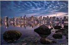 Matt Fototapete Vancouver im Sonnenuntergang 1,9 m
