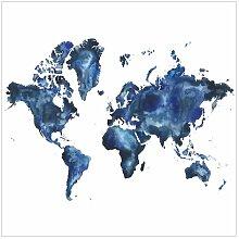 Matt Fototapete Wasser-Weltkarte Hell 2,88 m x 288