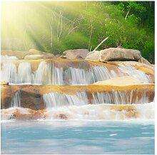 Matt Fototapete Wasserfall Lichtung 2,88 m x 288