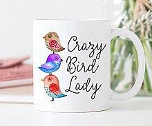 Mattanch Kaffee-Haferl Crazy Bird Lady lustige
