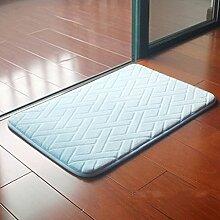 Matte, 40 * 60CM Badezimmermatte, Badezimmer-rutschfeste Matten, Türmatten, rutschfeste saugfähige Auflage, dickere langsame Rückstoßauflage ( farbe : Y )