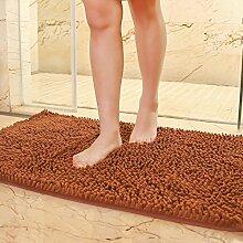 Matte, Fußmatte, (Schlafzimmer, Bad, Badezimmer, Anti-Skid, Wasseraufnahme), 40 X 60 Cm Tür zum Bad, Kaffee