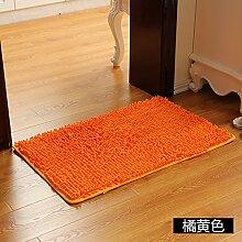 Matte, Fußmatte, (Schlafzimmer, Badezimmer, Küche, Matten, Wasser), 60 * 90 cm, Orange