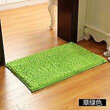 Matte, Fußmatte, (Schlafzimmer, Badezimmer, Küche, Matten, Wasser), 40 * 60 cm, Gras Grün
