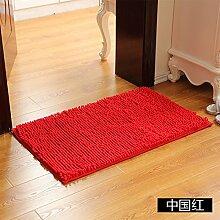 Matte, Fußmatte, (Schlafzimmer, Badezimmer, Küche, Matten, Wasser), 80 * 120 Cm, Chinesischen Roten