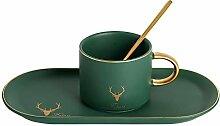 Matte Keramik Kaffee-tasse Disc-set Office