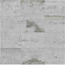 Matte Tapete Betonoptik Große Betonplatten East