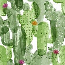 Matte Tapete Cactus Floral 10 m x 52 cm East Urban