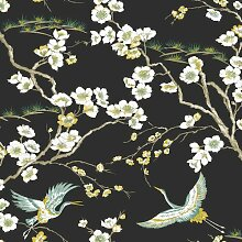 Matte Tapete Japan Floral and Fauna Tropical 10 m
