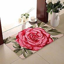 Matten Fussmatte Teppich Badezimmer Saugeinlagen, 40 * 60 cm, neuen Rose