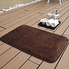 Matten-Teppich-Badezimmer-Komfort-Teppich-weiche Tür-Saug-Matten-Badezimmer 50 * 80CM ( Farbe : A )