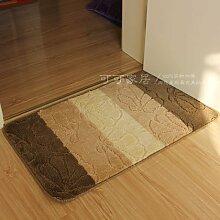 Matten Wasseraufnahme Matten Küche Badezimmer Slip-Proof Matte, Staub Remover, 80 * 120 Cm, Kaffee