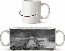 Matterhorn in der Schweiz Effekt: Schwarz/Weiß