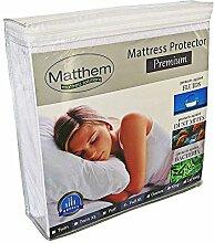 Matthem Premium- hypoallergen Frottee Baumwolle Wasserdicht Matratzenschoner - Vinyl frei Größe:100x200+30cm