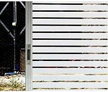 Mattierte Streifen Fensterfolie Fenster Aufkleber Fensterabziehbilder Elektrostatische Glasfolie (45 x 400cm)