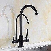 Mattschwarze Küche Sauberes Wasser Wasserhahn