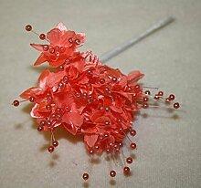 Mauergipskraut Koralle 12 Stiele Hochzeit Perlen Blumen Spray Basteln Dekoration