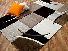 Maui Designer Teppich Modern Beige Karo in 4