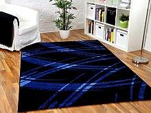 Maui Designer Teppich Schwarz Blau Life in 5