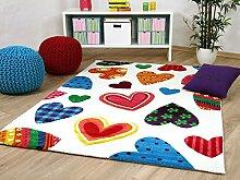 Maui Kinder und Jugend Teppich Herzen Bunt in 5