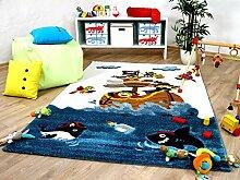 Maui Kinder und Spiel Teppich Kids Piratenschiff