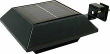 Mauk Solarlicht, Plastik, Schwarz, 24.5 x 25.5 x 6 cm