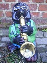 Maulwurf mit Saxophon - Tierfiguren -