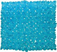 Maurer Badezimmer-Teppich hellblau mit Saugnäpfen rutschfest und schimmelabweisend PVC 54x 54 cm