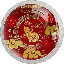 Maus Chinesisches Neujahr-01 Küchenknopf