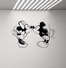 Maus Minnie Maus küssen Wandtattoo Kinder