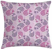 Mauve Decor Throw Pillow Cushion Cover by
