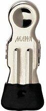 Mawa Kleiderbügel 5,5 cm, vielseitig einsetzbar, Poly-Clip, 100 Stück, Schwarz