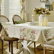 Max Home@ American Rural Hirtenstickerei Rechteckige Tischdecke Square Modern Minimalist Tischdecke ( größe : 130*240cm )