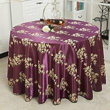 Max Home@ Baumwolle und Leinen Hotel Tischdecke Stoff Mode Druck Haus Garten Tee Tisch Tuch Runde Tischdecke ( größe : 200cm )