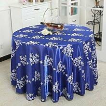 Max Home@ Baumwolle und Leinen Hotel Tischdecke Stoff Mode Druck Haus Garten Tee Tisch Tuch Runde Tischdecke ( größe : 180cm )