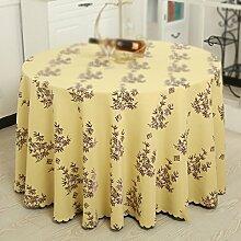 Max Home@ Baumwolle und Leinen Hotel Tischdecke Stoff Mode Druck Haus Garten Tee Tisch Tuch Runde Tischdecke ( größe : 160cm )