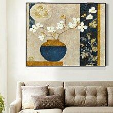 Max Home@ Meter-Box Malerei Distribution Box Elektro-Box einfache moderne Block der Wohnzimmer Malerei Frameless Malerei ( Farbe : Left push , größe : 44*54cm )
