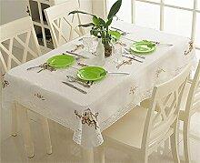 Max Home@ Moderne im europäischen Stil Garten Tuchkunst / Stickerei / Platin / Leinen / Baumwolle / Spitze Tischdecken ( größe : 110cm*110cm )