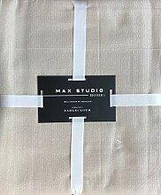 Max Studio Stoff-Tischdecke, hellbeige/hellbraun