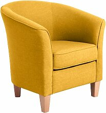 Max Winzer 2343-1100-1645254 Sessel Lucca, Einzelsessel, Flachgewebe, gelb