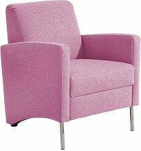 Max Winzer 27681100 Vallo Einzelsessel Filzoptik, pink