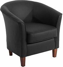 Max Winzer® Sessel Livia, schwarz, pigmentiertes