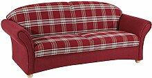 Max Winzer® Sofa 2,5-Sitzer Corona, rot,