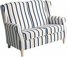 Max Winzer Sofa 2-Sitzer Lorris Streifenoptik
