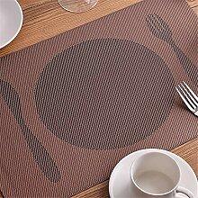 MAXCD Tischset PVC Hotel Senior grün weinglas