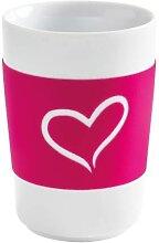 Maxi Becher 0,35l HERZ touch! Five Senses Pink Porzellan KAHLA (12,95 EUR / Stück)