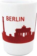Maxi Becher 0,35l SKYLINE BERLIN touch! Five Senses Rot Porzellan KAHLA (12,95 EUR / Stück)