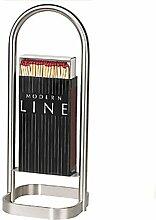 Maxi Zünd- und Streichholz-Ständer aus Edelstahl