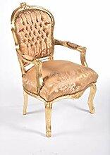 MAXIOCCASIONI Barock-Sessel Weiß Gold